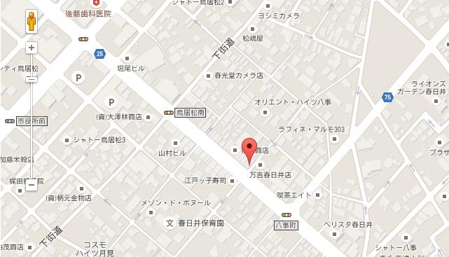 ルナカフェの地図